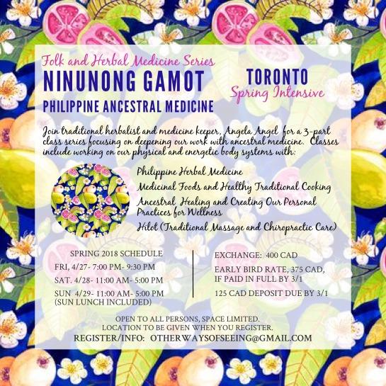 Toronto Spring Intensive Ninunong Gamot 2018 final version